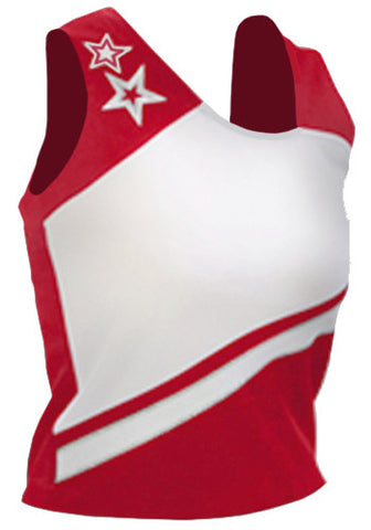 Pizzazz Supernova Uniform Shells - Red White