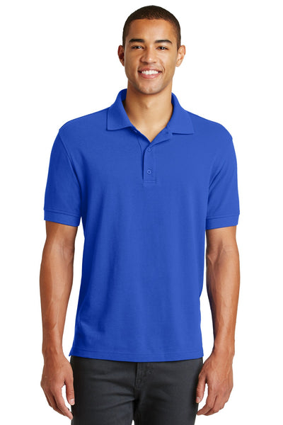 Eddie Bauer EB100 Cotton Pique Polo - Brilliant Blue - HIT A Double