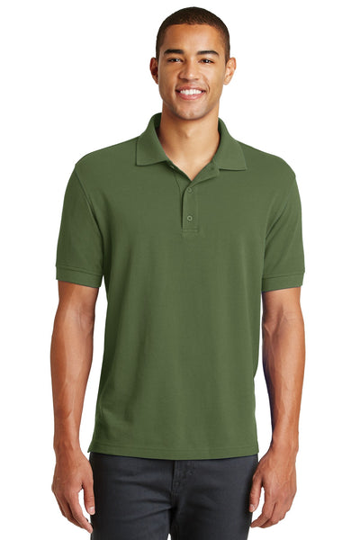Eddie Bauer EB100 Cotton Pique Polo - Evergreen - HIT A Double