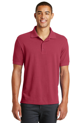 Eddie Bauer EB100 Cotton Pique Polo - Red Rhubarb - HIT A Double
