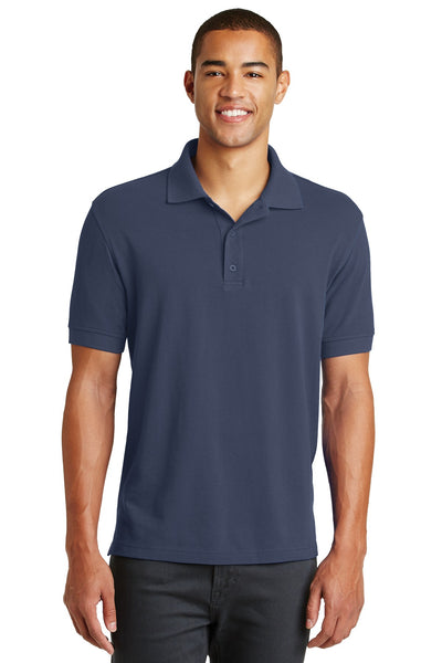 Eddie Bauer EB100 Cotton Pique Polo - River Blue Navy - HIT A Double