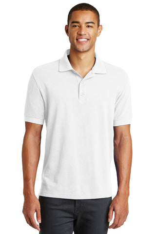 Eddie Bauer EB100 Cotton Pique Polo - White - HIT A Double