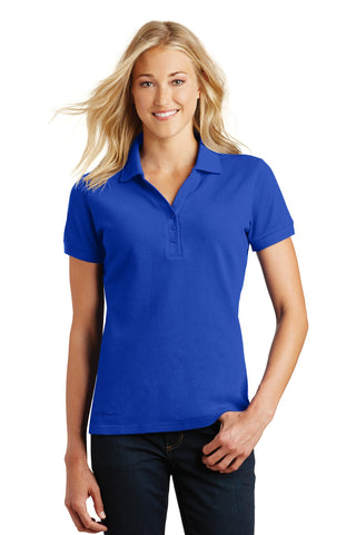 Eddie Bauer EB101 Ladies Cotton Pique Polo - Brilliant Blue - HIT A Double
