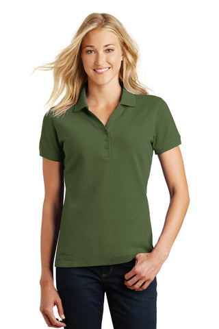 Eddie Bauer EB101 Ladies Cotton Pique Polo - Evergreen - HIT A Double