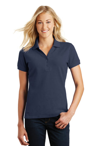 Eddie Bauer EB101 Ladies Cotton Pique Polo - River Blue Navy - HIT A Double