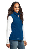 Eddie Bauer EB205 Ladies Fleece Vest - Deep Sea Blue - HIT A Double
