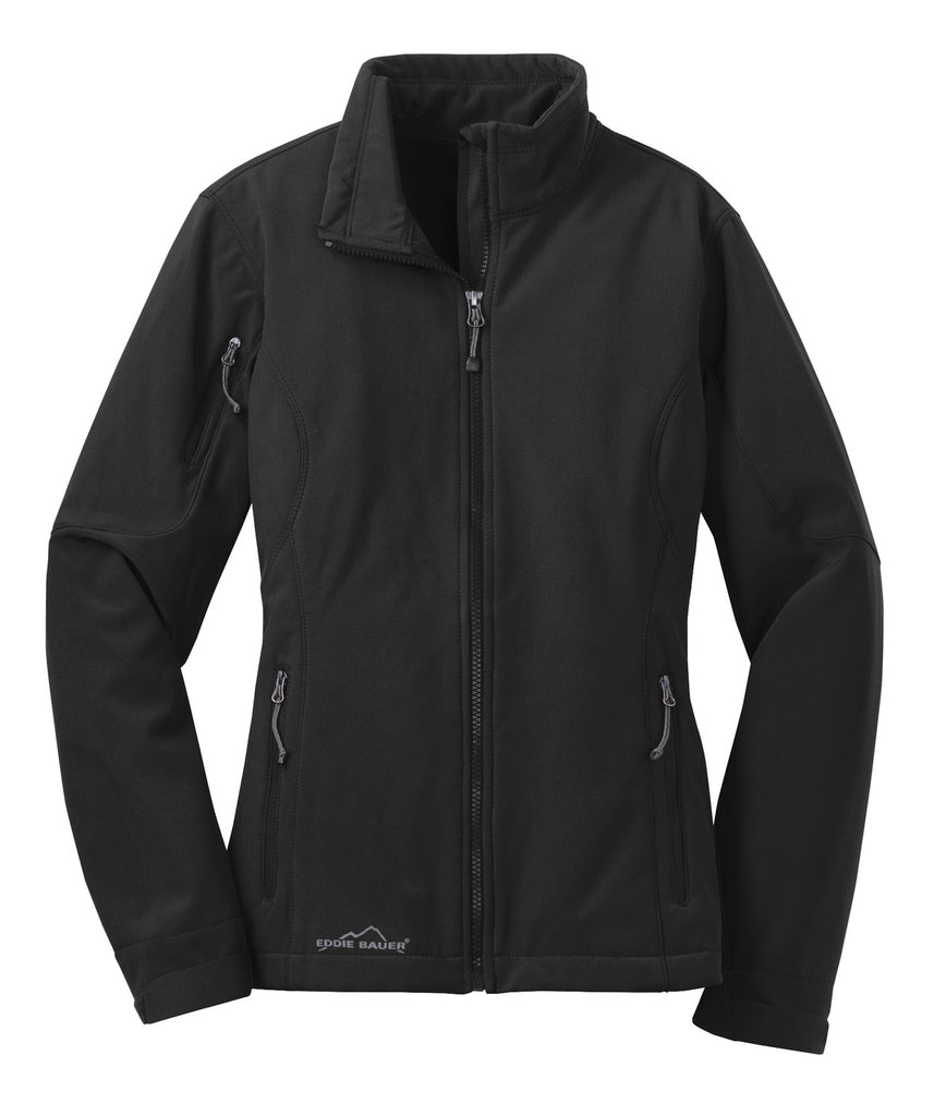 Eddie Bauer EB531 Ladies Soft Shell Jacket - Black - HIT A Double