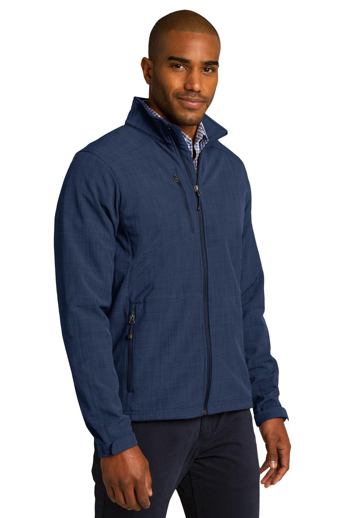 Eddie Bauer EB532 Shaded Crosshatch Soft Shell Jacket - Blue - HIT A Double