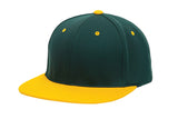 Pacific Headwear ES342 Premium P-Tec Performance Flexfit Cap - Dark Green Gold - HIT A Double
