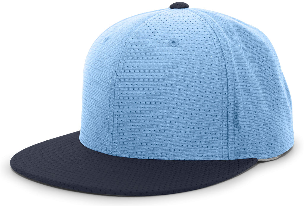 Pacific Headwear ES818 Air Jersey Performance Flexfit Cap - Columbia Blue Navy - HIT A Double