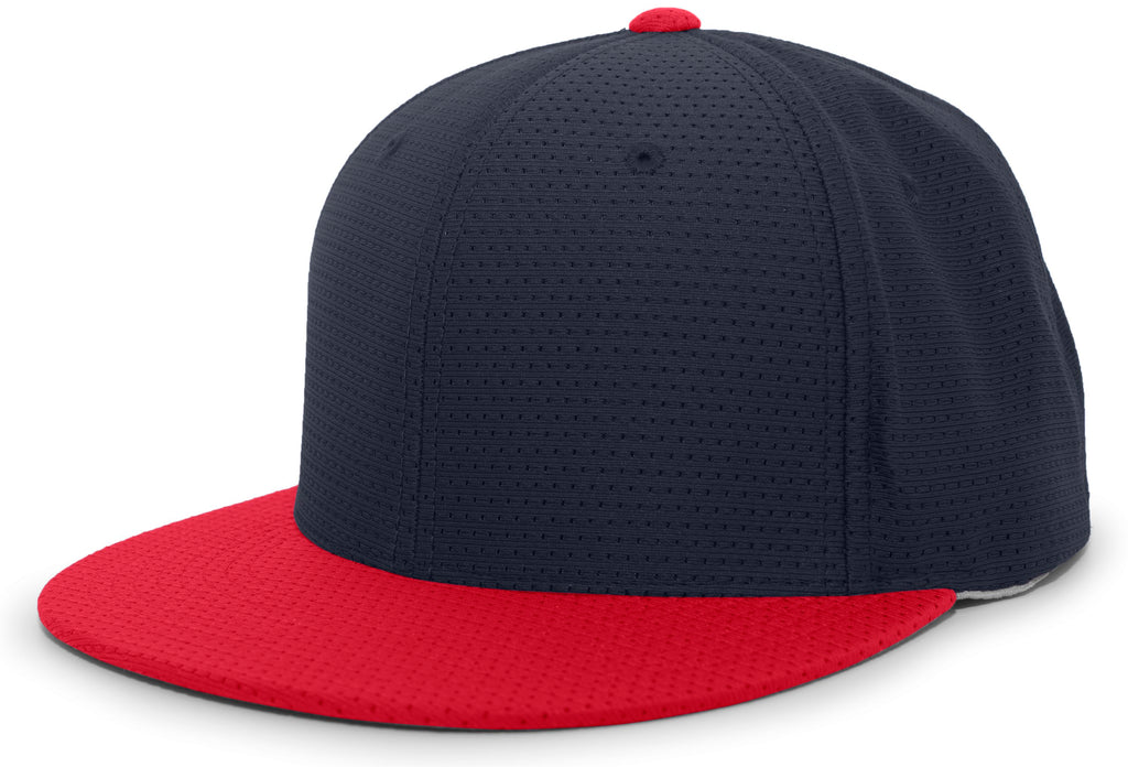 Pacific Headwear ES818 Air Jersey Performance Flexfit Cap - Navy Red - HIT A Double