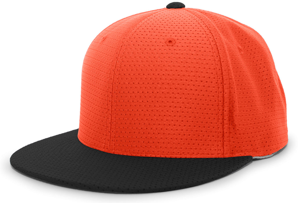 Pacific Headwear ES818 Air Jersey Performance Flexfit Cap - Orange Black - HIT A Double