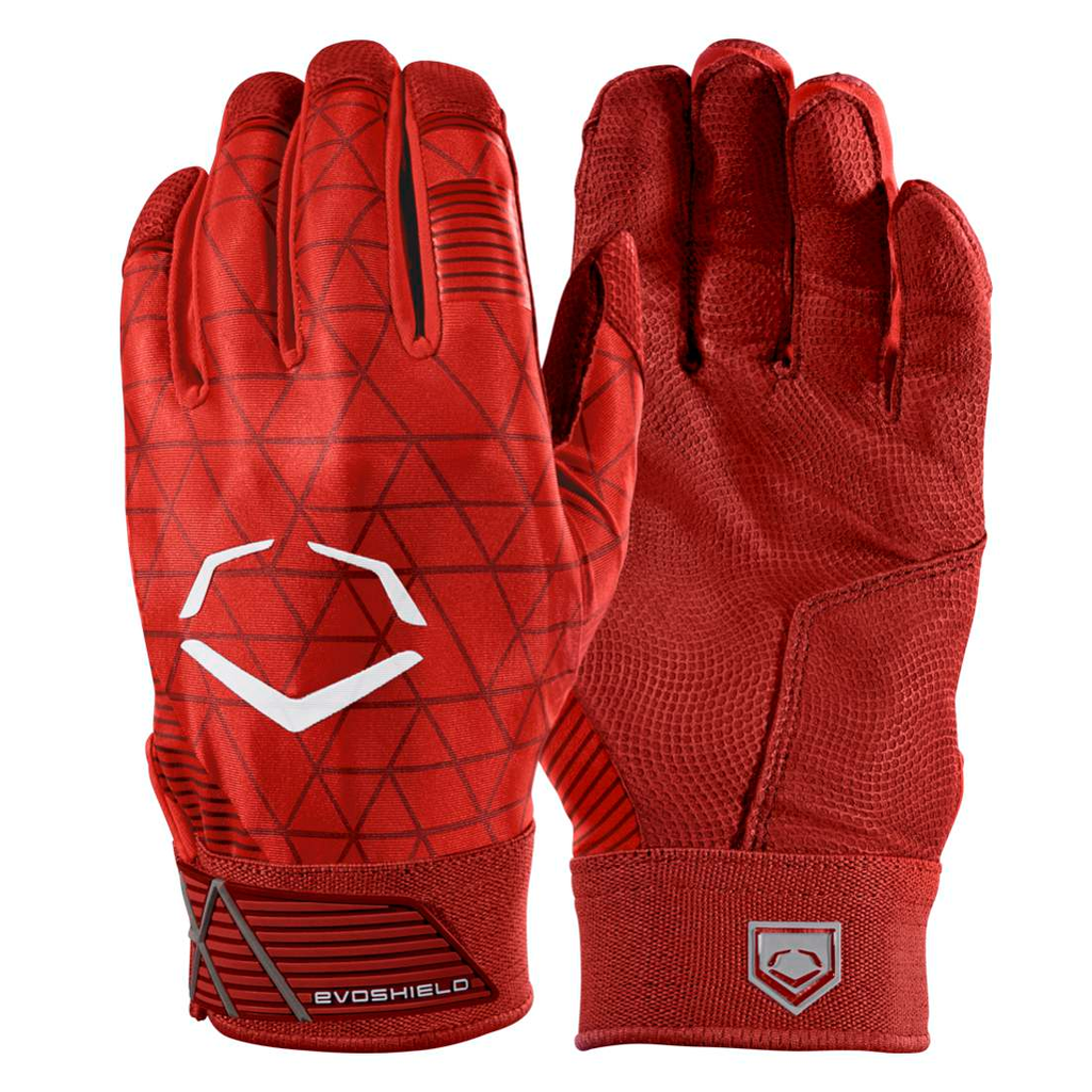Evoshield Adult Evocharge Protective Batting Gloves Red Hit A Double