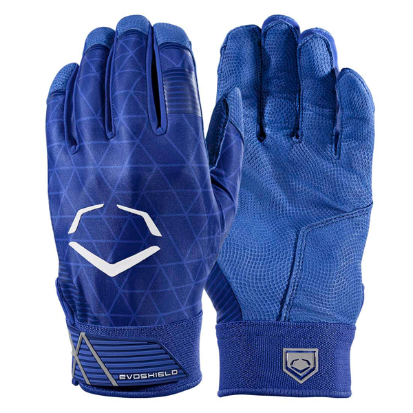 EvoShield Adult EvoCharge Protective Batting Gloves - Royal - Batting Gloves - Hit A Double