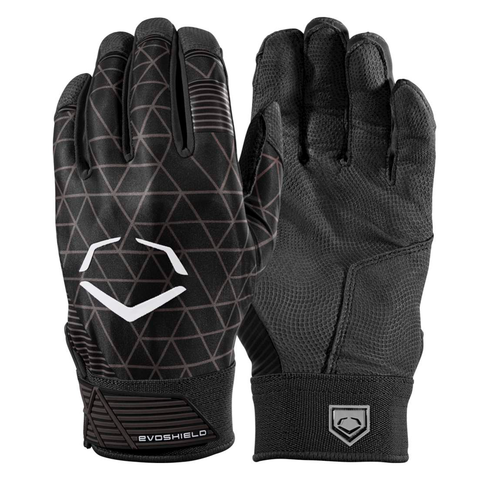 EvoShield Adult EvoCharge Protective Batting Gloves - Black - Batting Gloves - Hit A Double