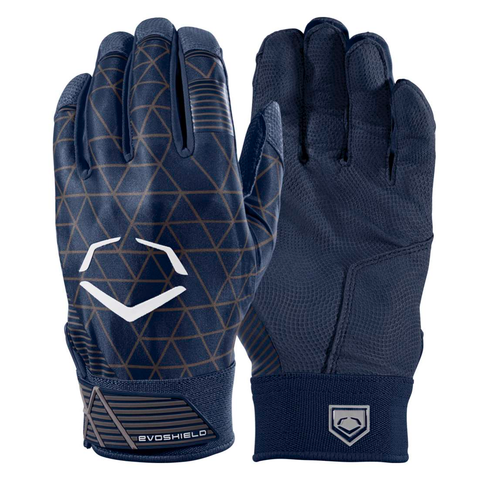 EvoShield Adult EvoCharge Protective Batting Gloves - Navy - Batting Gloves - Hit A Double