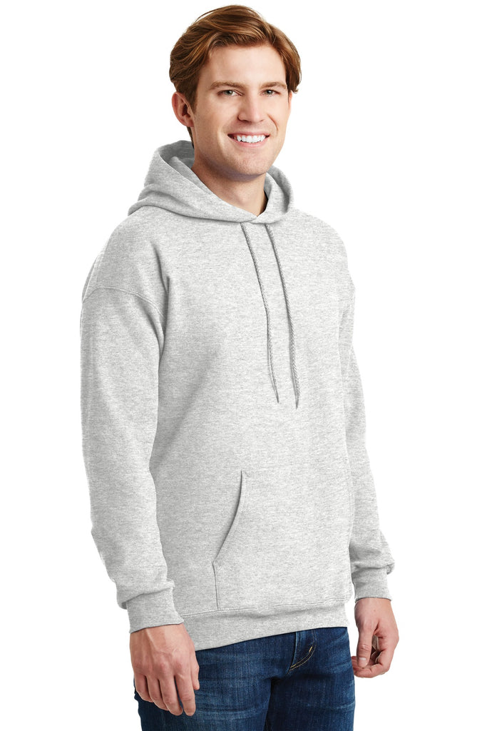 Hanes F170 Ultimate Cotton Pullover Hooded Sweatshirt - Ash - HIT A Double