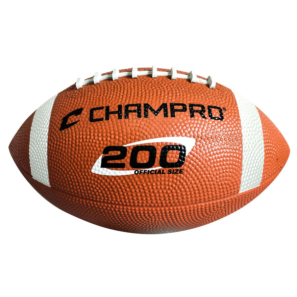 "Champro FB41-FB44 ""200"" Rubber Football - HIT A Double"