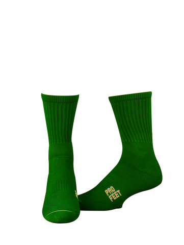 Pro Feet 385 Colored Crew Sock - Forest - Basketball, Lacross/Field Hockey, Football - Hit A Double