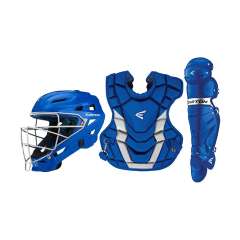Easton Gametime X Intermediate Catcher's Set - Royal Silver