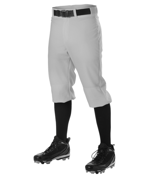 Alleson 605PKN Adult Baseball Knicker Pant - Gray