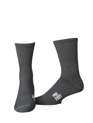 Pro Feet 385 Colored Crew Sock - Graphite - Basketball, Lacross/Field Hockey, Football - Hit A Double