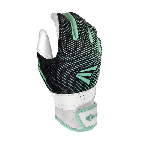 Easton Hyperlite Fastpitch Girl's Batting Gloves - White Mint