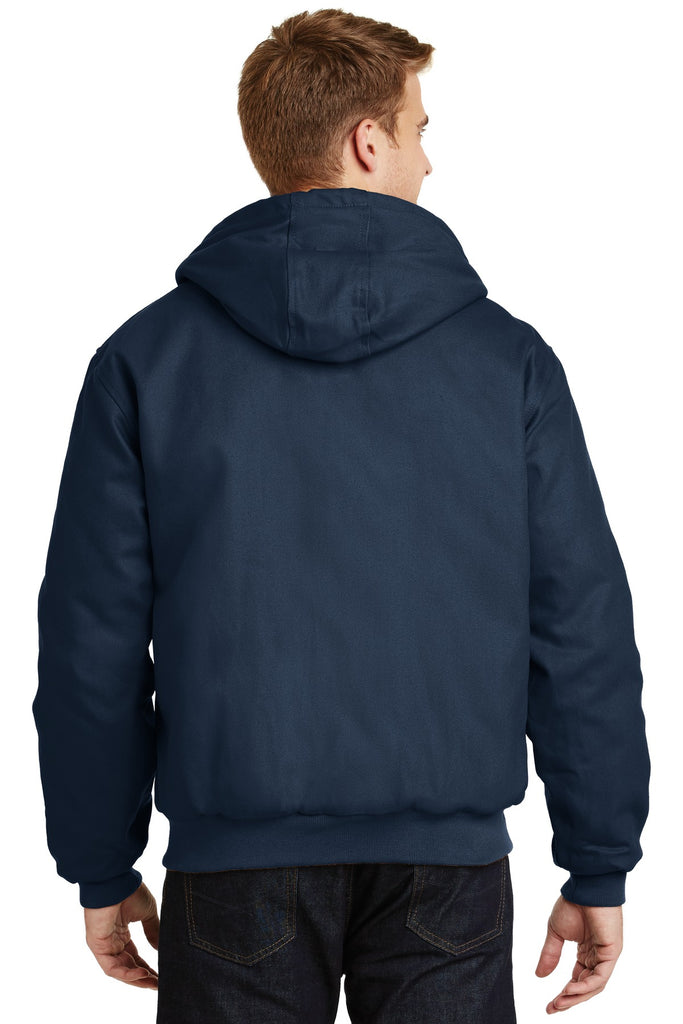 CornerStone J763H Duck Cloth Hooded Work Jacket - Navy - HIT A Double