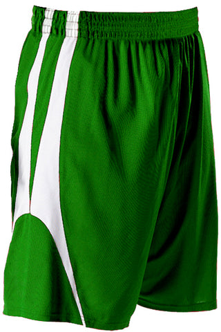 Alleson 54MMPY Youth Reversible Basketball Short - Kelly White