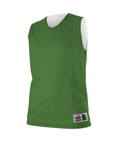 Alleson 560RW Women's Reversible Mesh Tank - Kelly White - Basketball - Hit A Double