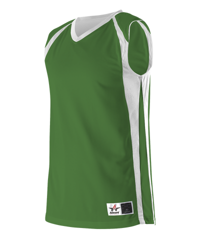Alleson 54MMRY Youth Reversible Basketball Jersey - Kelly White