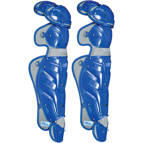 "All-Star Adult System  7 16.5"" Pro Leg Guards - Royal - Catcher"