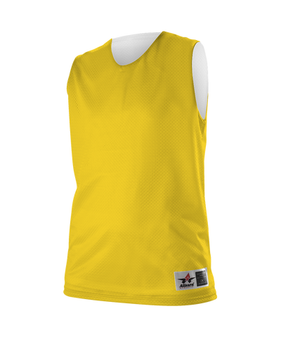 Alleson 560RW Women's Reversible Mesh Tank - Gold White - Basketball - Hit A Double