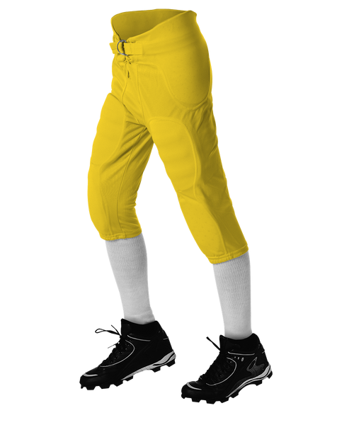 Alleson 687PY Youth Solo Series Integrated Football Pant - Gold - Football - Hit A Double
