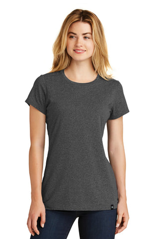 New Era LNEA100 Ladies Heritage Blend Crew Tee - Black Heather