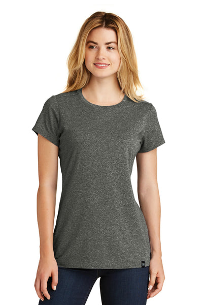 New Era LNEA100 Ladies Heritage Blend Crew Tee - Black Twist
