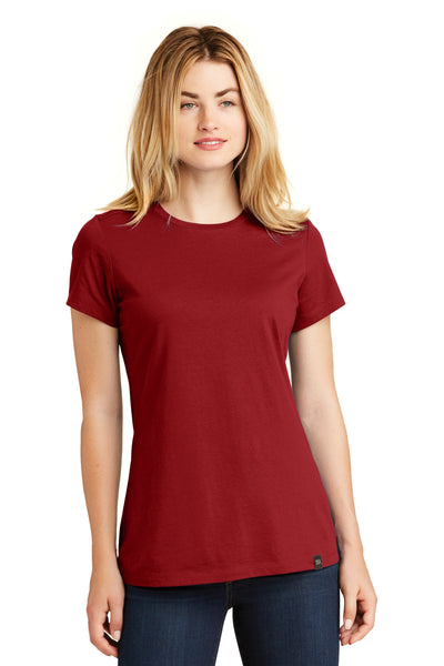 New Era LNEA100 Ladies Heritage Blend Crew Tee - Crimson