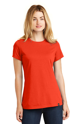 New Era LNEA100 Ladies Heritage Blend Crew Tee - Deep Orange