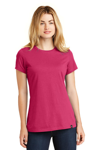 New Era LNEA100 Ladies Heritage Blend Crew Tee - Deep Pink