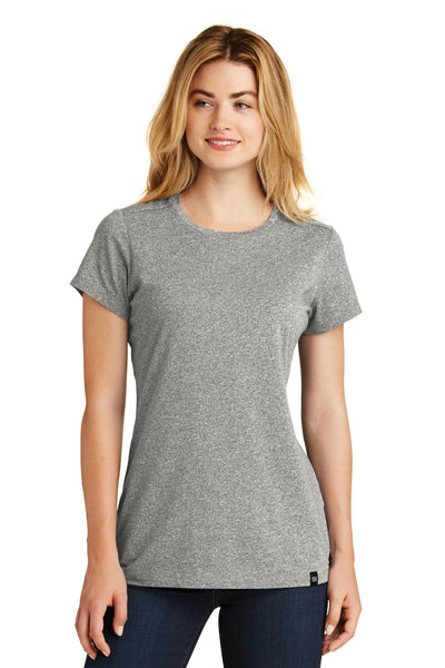 New Era LNEA100 Ladies Heritage Blend Crew Tee - Light Graphite Twist