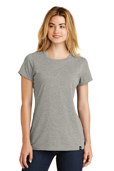 New Era LNEA100 Ladies Heritage Blend Crew Tee - Rainstorm Gray Heather