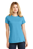 New Era LNEA100 Ladies Heritage Blend Crew Tee - Sky Blue - HIT A Double