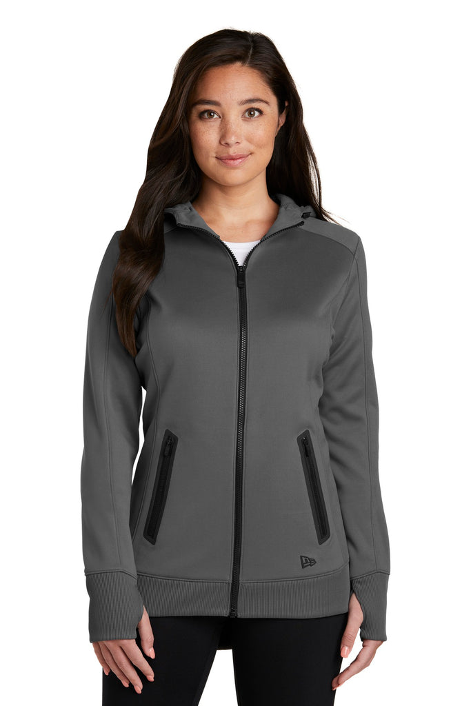 New Era LNEA522 Ladies Venue Fleece Full-Zip Hoodie - Graphite - HIT A Double