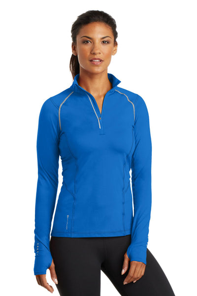 OGIO Endurance LOE335 Ladies Nexus 1/4-Zip Pullover - Electric Blue - HIT A Double
