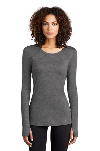 OGIO Endurance LOE340 Ladies Force Long Sleeve Tee -  Gray Heather - HIT A Double