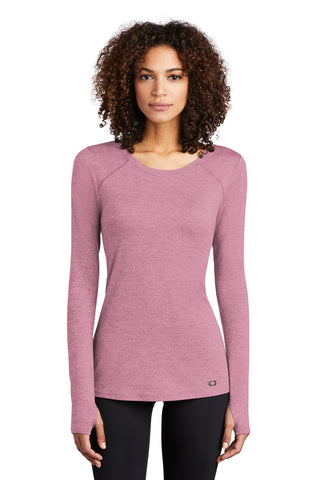 OGIO Endurance LOE340 Ladies Force Long Sleeve Tee - Lilac Heather - HIT A Double