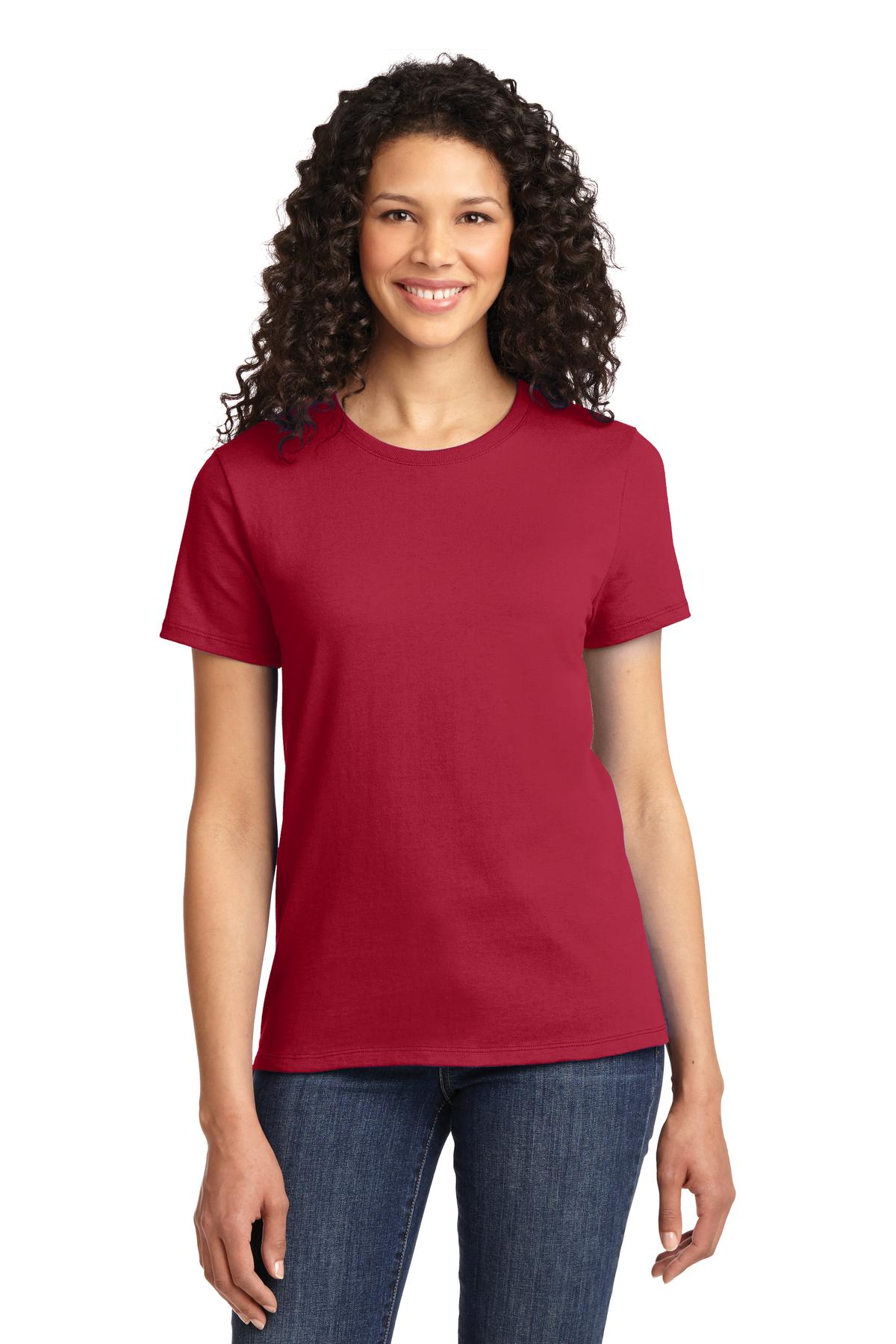 Port & Company LPC61 Ladies Essential Tee - Red - HIT A Double