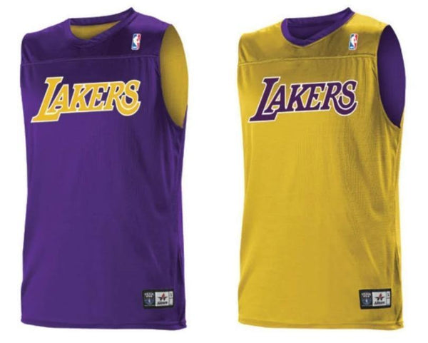 Alleson A105LA Adult NBA Logo Reversible Game Jersey - Los Angeles Lakers