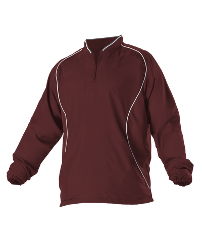 Alleson 3J13A Adult Multi Sport Travel Jacket - Maroon White