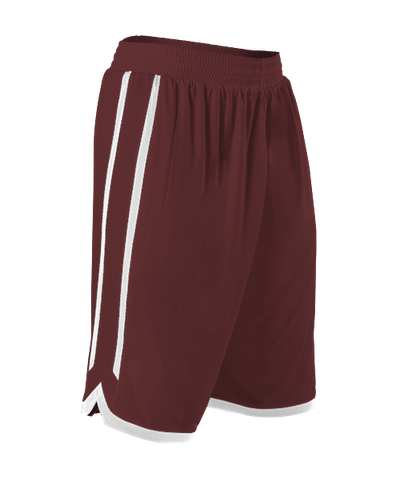 Alleson 588PY Youth Reversible Basketball Short - Maroon White